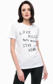 Хлопковая футболка с вышивкой Replay
