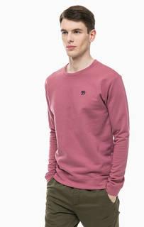 Хлопковый свитшот розового цвета Tom Tailor Denim
