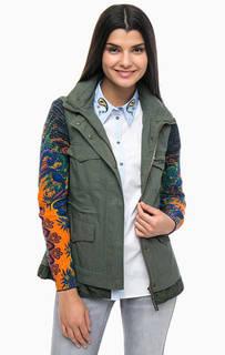 Куртка с вязаными съемными рукавами Desigual