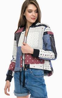 Легкая куртка с лоскутным принтом Tommy Hilfiger