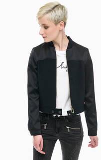 Черная куртка из вискозы Tommy Hilfiger