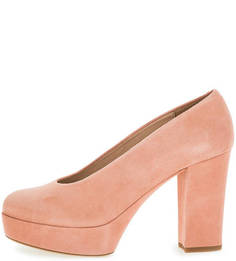 Замшевые туфли на платформе и каблуке Unisa