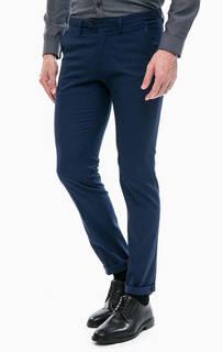 Синие хлопковые брюки Drykorn