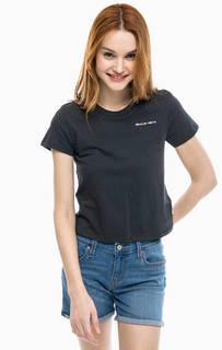 Хлопковая футболка серого цвета Cropped Tet Levis®