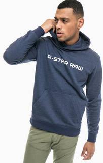 Синяя толстовка с капюшоном G Star RAW