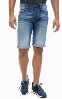 Синие джинсовые шорты с застежкой на болты G Star RAW