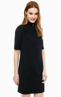 Короткое черное платье с высоким воротом Drykorn