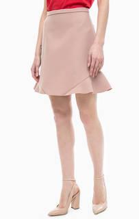 Бежевая короткая юбка Pinko