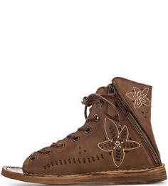 Кожаные сандалии со шнуровкой Felmini