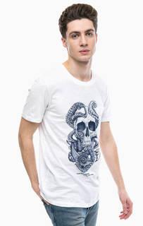 Хлопковая футболка с нагрудным карманом Tom Tailor Denim