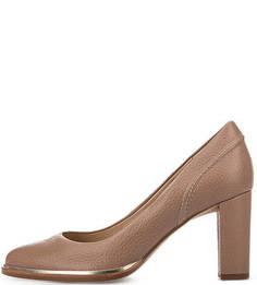 Туфли из зерненой кожи на устойчивом каблуке Clarks