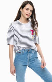 Полосатая футболка с нашивками Tommy Jeans
