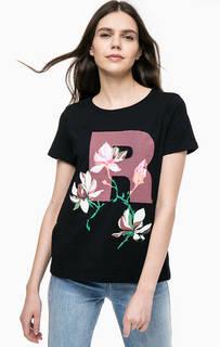 Хлопковая футболка с цветочным принтом Vero Moda