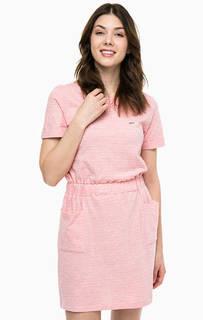 Короткое платье с расклешенной юбкой Lacoste