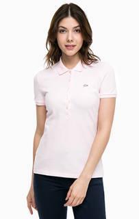 Розовая футболка поло из хлопка Lacoste