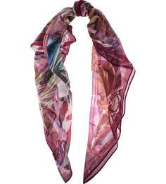 Бордовый трикотажный платок Eleganzza