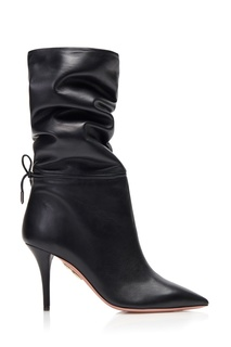 Кожаные полусапоги Aquazzura x Claudia Schiffer Le Marais Boot 85