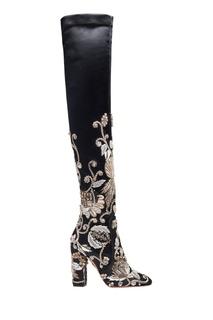 Ботфорты с вышивкой Poison Ivy Boot 105 Aquazzura