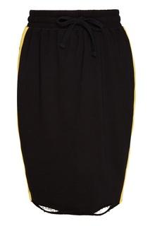 Черная трикотажная юбка с лампасами Zasport