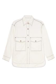Белая джинсовая куртка Mo&Co