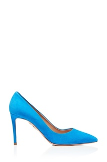 Голубые туфли из замши Simply Irresistible Pump 85 Aquazzura