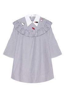 Хлопковое платье с вышивками Vivetta