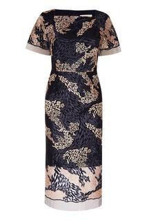 Платье с абстрактной вышивкой Biryukov