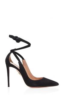 Черные туфли Milano Pump 105 Aquazzura