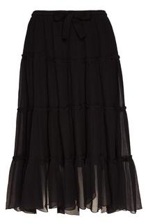 Черная юбка с воланами See By Chloé