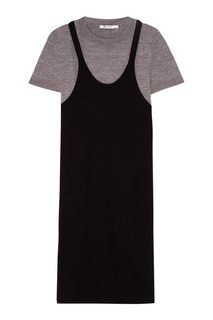 Комбинированное платье из трикотажа T by Alexander Wang