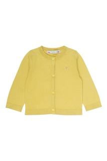 Желтый хлопковый кардиган Bonpoint