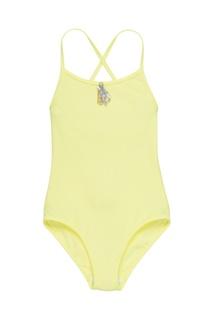 Слитный купальник желтого цвета Bonpoint