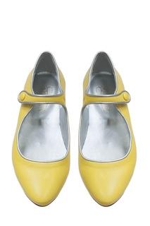 Кожаные желтые туфли BELINDA Bonpoint