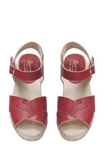 Кожаные красные босоножки MARIA Bonpoint