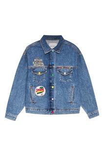 Джинсовая куртка с яркими нашивками Mira Mikati