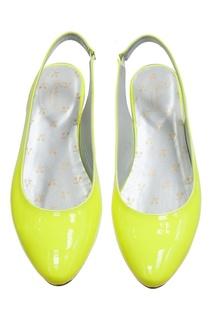 Лакированные балетки лимонного цвета BLONDIE Bonpoint