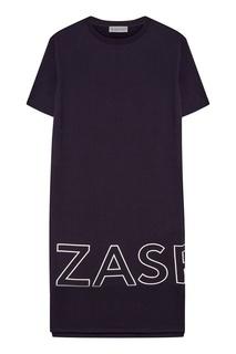 Хлопковое темно-синее платье Zasport