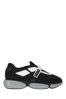 Черные кроссовки из текстиля Cloudbust Prada