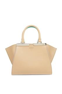 Бежевая сумка из кожи 3Jours Mini Fendi