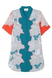 Платье из шелка с аппликацией 3.1 Phillip Lim