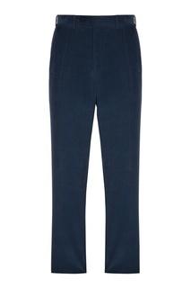 Синие вельветовые брюки Canali