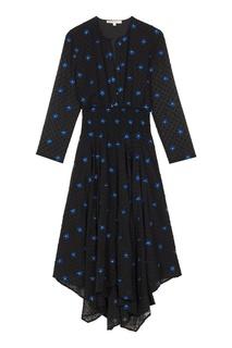 Фактурное платье с цветочной вышивкой Maje