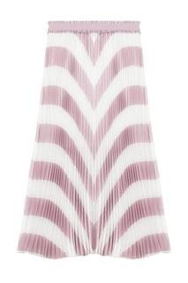 Плиссированная юбка в полоску Maje