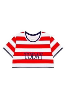 Хлопковая укороченная футболка Today Alberta Ferretti