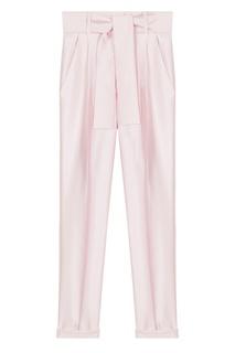Розовые брюки с широким поясом Maje