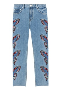 Хлопковые джинсы с вышивкой Maje