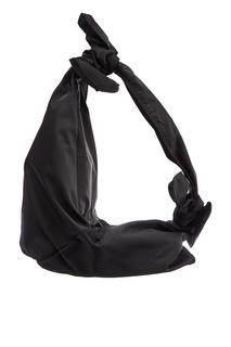 Черная асимметричная сумка-хобо Simone Rocha