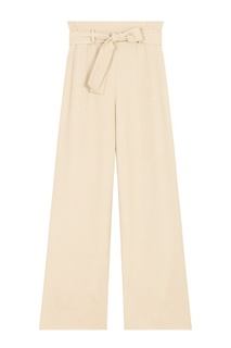 Укороченные бежевые брюки Maje