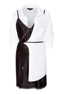 Комбинированное платье-рубашка Alexander Wang