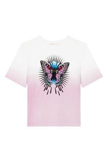 Градиентная футболка с бабочкой Maje
